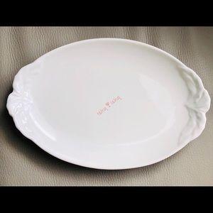 """Villeroy & Boch FOGLIA Pickle Dish, 9 3/8"""", White"""